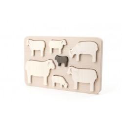 """Puzzle """"Famille Mouton"""""""