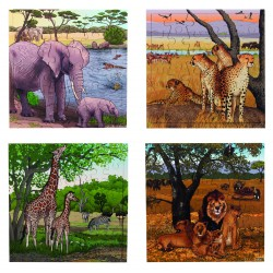 Le lot de 4 sets - Girafe -...