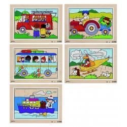 Lot de 5 Puzzles