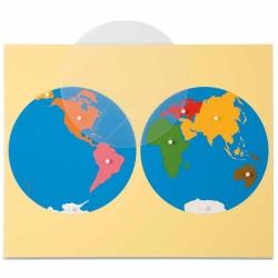 Planisphère du monde -...