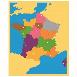 Carte puzzle de la France -...