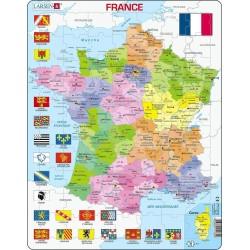 Carte des Régions de France...