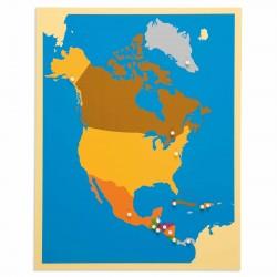 Carte puzzle d'Amérique du...