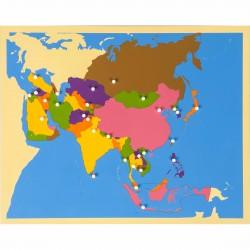 Carte puzzle de l'Asie -...