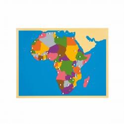 Carte puzzle de l'Afrique -...