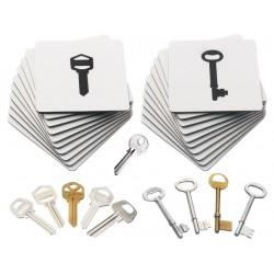 Set de clés et de cartes