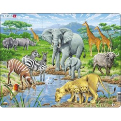 Savane africaine - 65 pièces