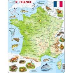 Carte de France - 60 pièces