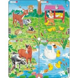 Pack 4 puzzles - Animaux -...