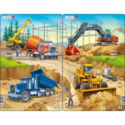 Pack  2 puzzles - Engins de...