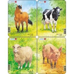 Pack 4 puzzles - Dessins...