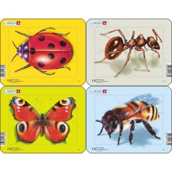 Pack 4 puzzles - Insectes -...