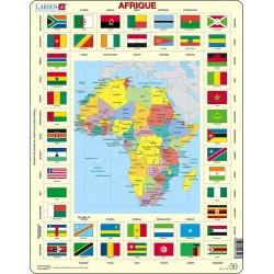 Carte de l'Afrique - 70 pièces