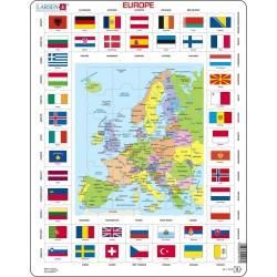 Carte de l'Europe - 70 pièces