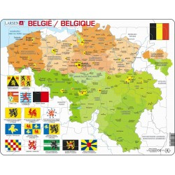 Carte de la Belgique - 48...