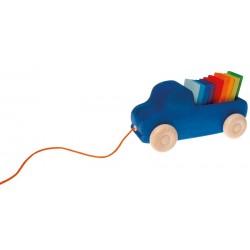 Camion bleu à tirer