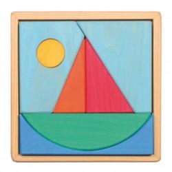 Puzzle - Voilier - 7 pièces