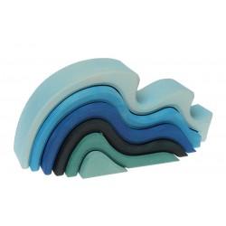 Vagues de l'océan - 6 pièces